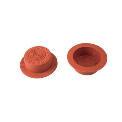 Molde de silicona SFT828 Mooncake Ribbons (Ø60h32mm) UniFlex, Silikomart