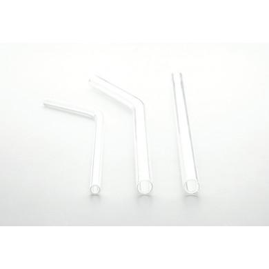 Pajita de cristal curva gruesa (Ø10x200mm), 100%Chef - 24 unidades