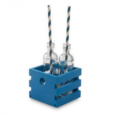 Caja Lesvos M azul Egeo (8,5x8,5x7cm), 100%Chef