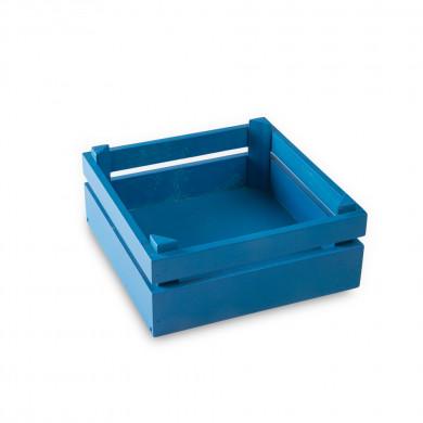 Caja Mikonos S azul Egeo (18x18x8cm), 100%Chef