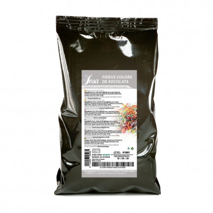 Fideos Multicolor Fantasía de Chocolate (1kg), Sosa