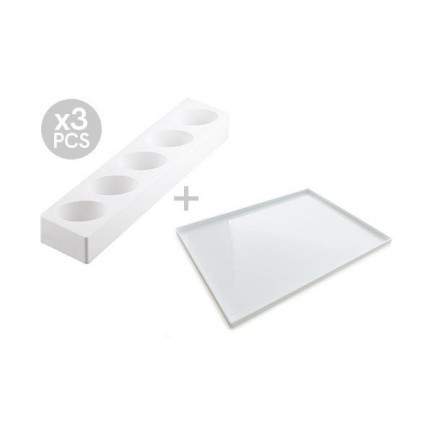 Multiflex oval 125/3 (3 piezas), Silikomart