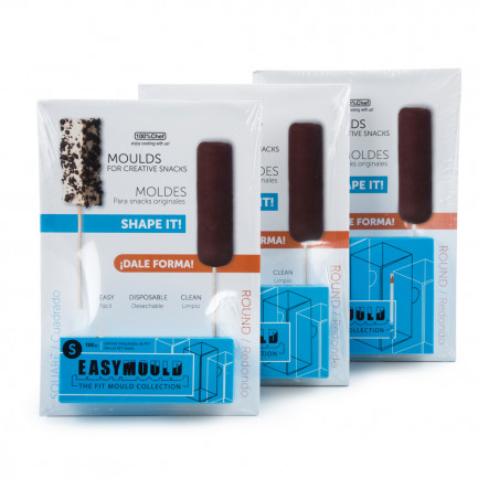 Easymould Cuadrado Retail (2x2cm), 100%Chef - 100 hojas
