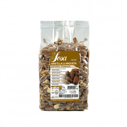 Almendra Largueta 13/14 Tostada con Piel (1kg), Sosa