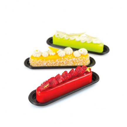Molde de silicona Fashion Éclair 80 130x25h25m (10 porciones) SiliconFlex, Silikomart