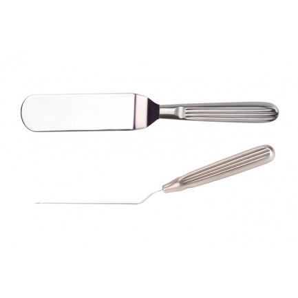 Espátula ancha emplatado (190x40x10mm), 100%Chef