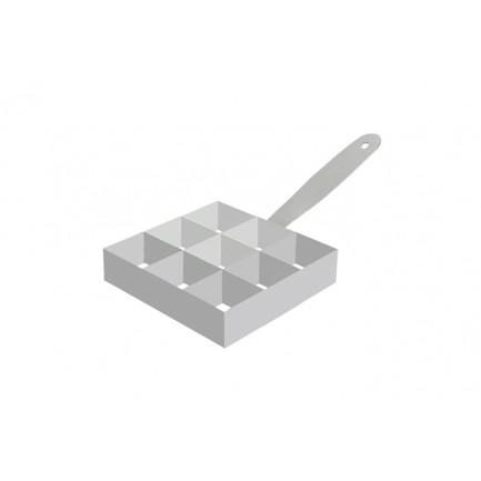 Aro de emplatado Mosaico 9 secciones (90x90x30mm), 100%Chef