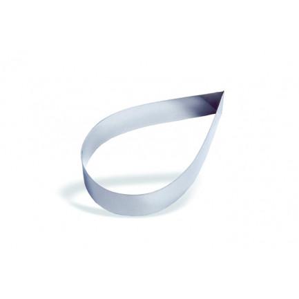 Molde forma gota de acero inoxidable 8cm (h4,5cm), Pujadas