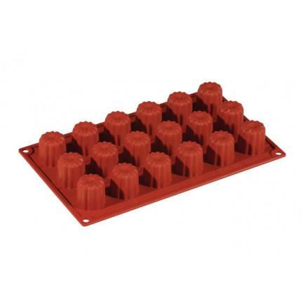 Molde de silicona FR037 Mini Cannelle Ø35h35mm (18 porciones) Formaflex Multiportion, Pavoni