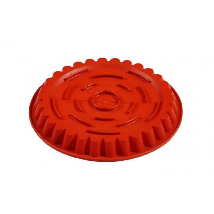 Molde de silicona FRT055 Redondo Estriado con fondo rialzato (Ø280h30mm) Formaflex Cake, Pavoni