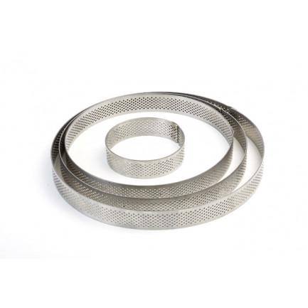Aro microperforado de acero inoxidable XF1520 (Ø150xh20mm) Progetto Crostate, Pavoni