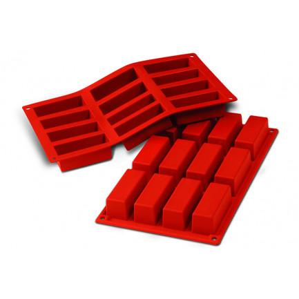 Molde de silicona SF026 Cakes 79x29h30mm (12 porciones) SiliconFlex, Silikomart