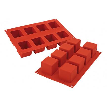 Molde de silicona SF104 Cubo 50x50x50mm (8 porciones) SiliconFlex, Silikomart