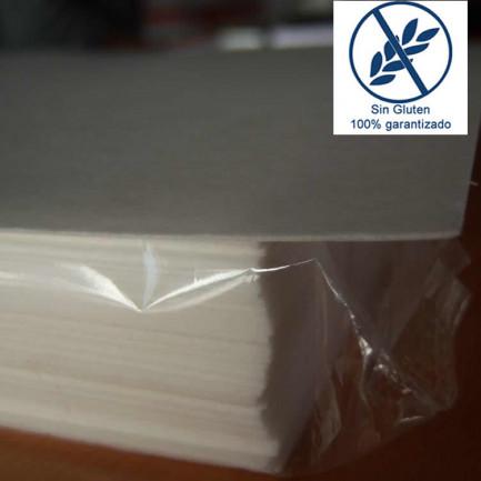 Papel Comestible de Oblea A4 (0,6mm de grosor) - 50 hojas