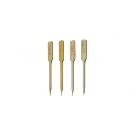 Set brochetas bistec en castellano (90mm), 100%Chef - 4x100 unidades