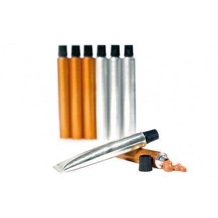 Tubo de aluminio bronce (7ml), 100%Chef - 100 unidades