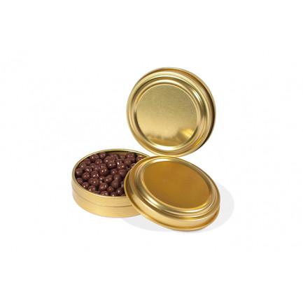 Lata dorada caviar 30ml (Ø75x20mm) -12 unidades