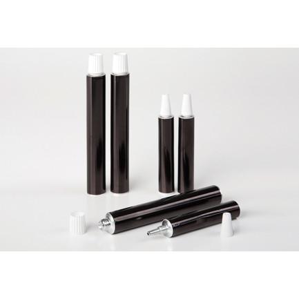 Tubo de aluminio negro (15ml), 100%Chef - 100 unidades