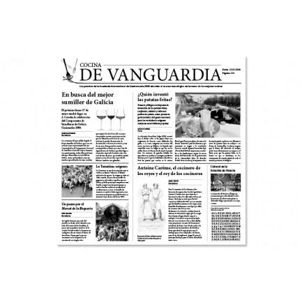 Papel de periódico Cocina de Vanguardia (30x29cm) - 500 hojas, 100%Chef