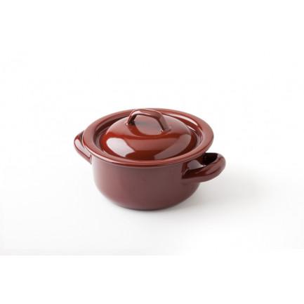 Cacerola teja M (500ml), 100%Chef - 6 unidades