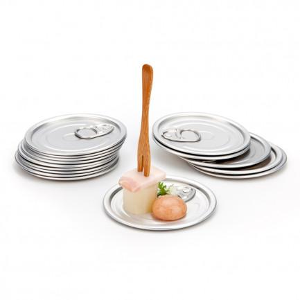 Plato Tapa (Ø8cm), 100%Chef - 100 unidades
