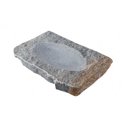 Rústico Hondo, plato de granito (19x12x2cm), 100%Chef