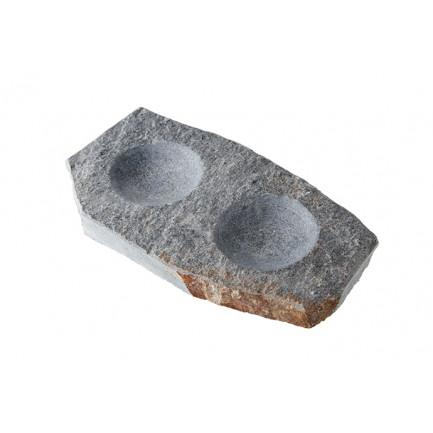 Rústico Doble, plato de granito (20x10x2cm), 100%Chef