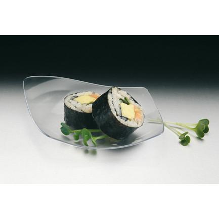 Plato de Degustación Transparente (130x110mm) - 100 unidades, Tast