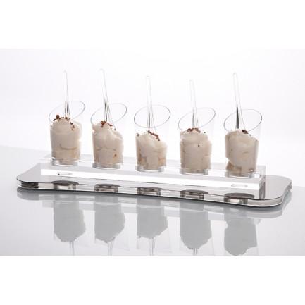 Soporte Deli para Vasos Sphera 5/9cl y Hola 9cl (27x4x2cm), 100%Chef