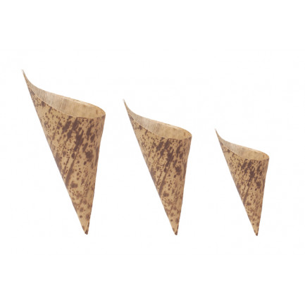 Cono bambú mediano (130x65xh90mm), 100%Chef - 100 unidades