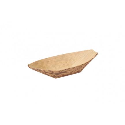 Barquita de bambú S (75x40x10mm), 100%Chef - 100 unidades