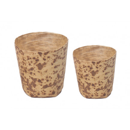 Vasito bambú pequeño (Ø45xh45mm), 100%Chef - 100 unidades
