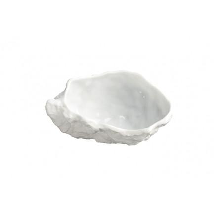 Plato de porcelana Ostra L (50ml), 100%Chef - 3 unidades