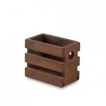 Caja Lesvos S nogal (8,5x5x7cm), 100%Chef