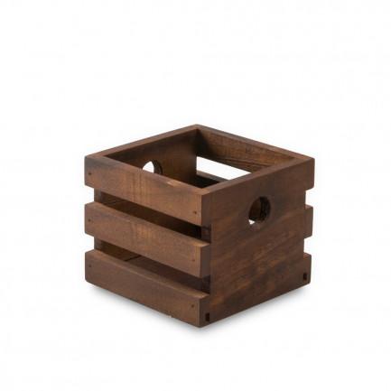 Caja Lesvos M nogal (8,5x8,5x7cm), 100%Chef