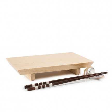 Plato de madera Ikaria (24x15x4cm), 100%Chef