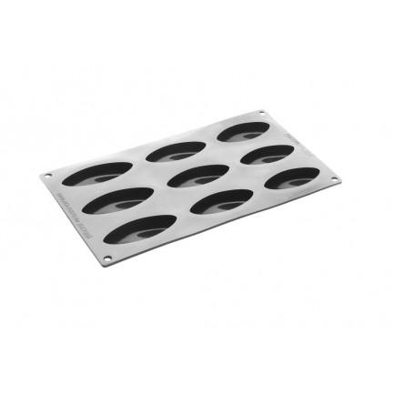 Moldes silicona negro 300x175 mm SHELL - 9 cavidades