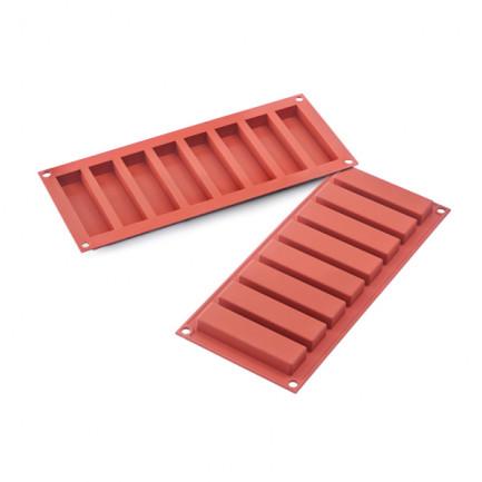 Molde de silicona SF184 Slim Bar 10x265h16mm (8 porciones) SiliconFlex, Silikomart
