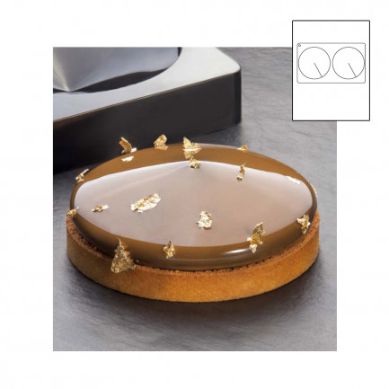 Frisbee TOP molde silicona 300x175 - Ø 140xh 33 mm, Pavoni